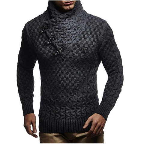Men's Sweater Turtleneck Pullover Sweater-Sweater-LeStyleParfait.Com