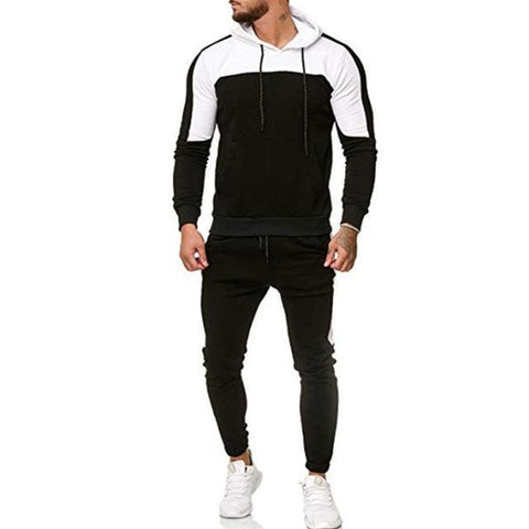 Men's Tracksuit - Patchwork Sportswear For Men-Tracksuit-LeStyleParfait.Com