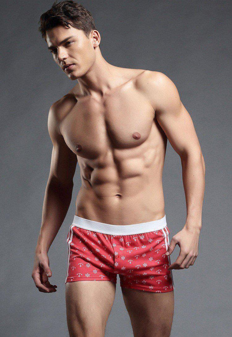 Mens Underwear Men Pouch Boxer Briefs Boxer Trunks-Underwear-LeStyleParfait.Com