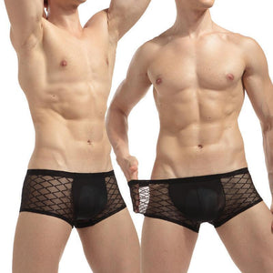 Men's Underwear Transparent Men's Boxers Black-Underwear-LeStyleParfait.Com