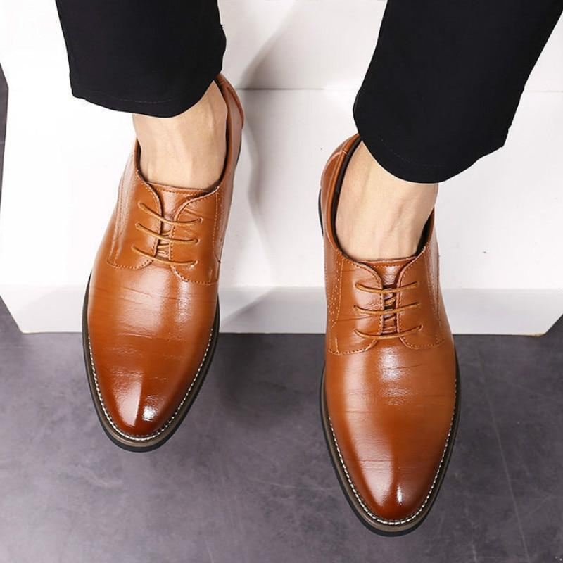 Men's Wingtip Shoes, Leather-Shoes-LeStyleParfait.Com
