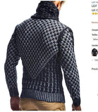 Men's Winter Sweater Turtleneck Slim Fit Pullover Sweater-Sweater-LeStyleParfait.Com