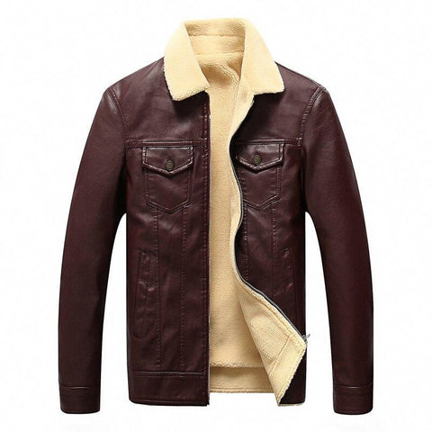 Montreal Winter Leather Jacket For Men-Casual-Fur-Jacket-LeStyleParfait.Com