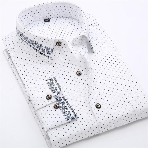 Multi-Taskers Dotted Dress Shirt For Men-Shirt-LeStyleParfait.Com