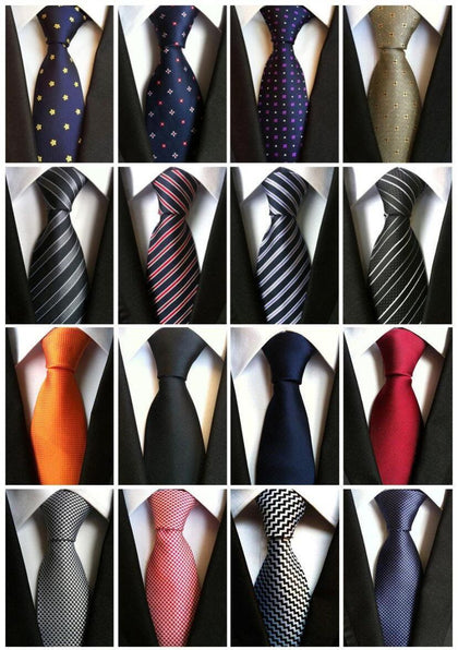 No Time Wasted Silk Necktie-Necktie-Online-US-UK-CA-LeStyleParfait.Com