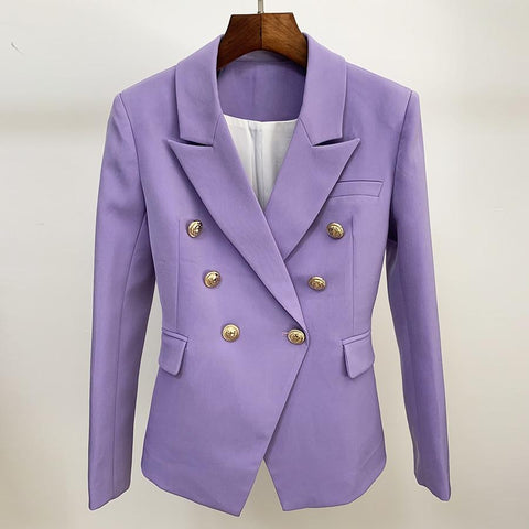 Office Ready Purple Women's Blazer Blazer LeStyleParfait.Com XXXL Purple