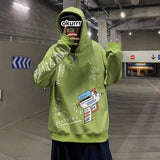 Oversized Graffiti Hoodie For Men-Hoodie- Casual, Clothing, Fall, Graffiti, Hoodies, Men, Men's, Oversized, Plus Size, Winter-LeStyleParfait.Com