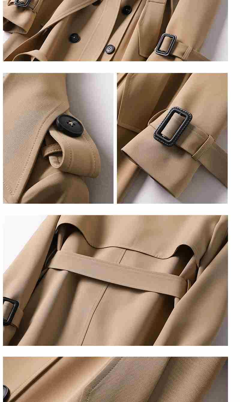 Oxford Trench Coat For Women-Coat-LeStyleParfait.Com
