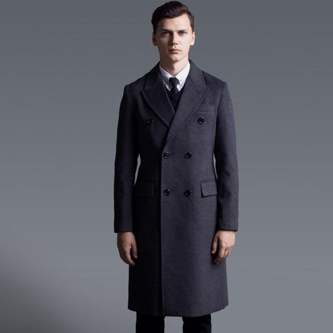 Paris Double Breast Winter Coat For Men-Coat-LeStyleParfait.Com