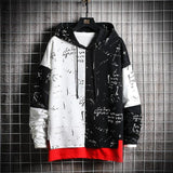 Patchwork Oversized Graffiti Hoodie For Men-Hoodie- Clothing, Graffiti, Hoodies, Men, Men's, Oversized, Plus Size-LeStyleParfait.Com
