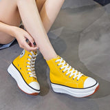 Platform Canvas Sneakers For Women Shoes LeStyleParfait.Com
