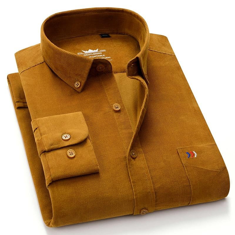 Ryan Corduroy Shirt For Men-Shirt-LeStyleParfait.Com