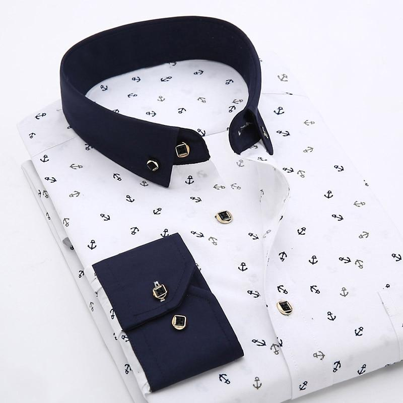 Sailor Dress Shirts For Men-Shirt-LeStyleParfait.Com