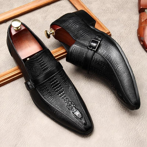 Santino Monk Strap Leather Dress Shoes For Men-Shoes-Online-LeStyleParfait.Com