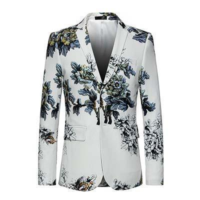Sequin Blazers Mens Slim Fit Fashion Brand Blazer-Blazer-LeStyleParfait.Com