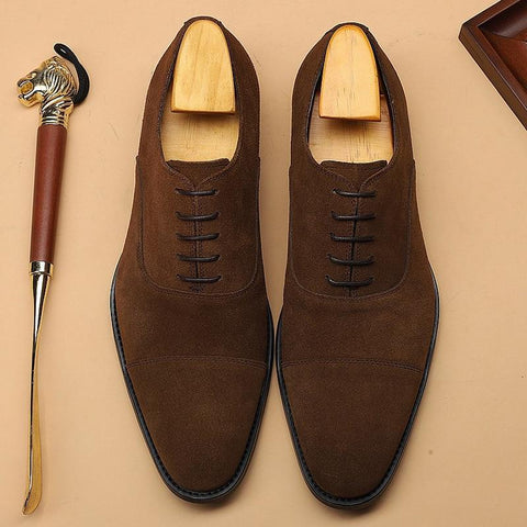 Sergio Suede Oxfords, Shoes For Men-Online-LeStyleParfait.Com