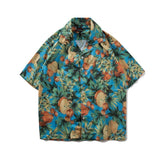 Shirt-Men's Summer Shirt, Hawaiian Style, Green-Shirt-LeStyleParfait.Com