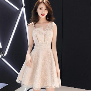 Short Prom Dress, Sleeveless Party Dress-Dress-Online-LeStyleParfait.Com