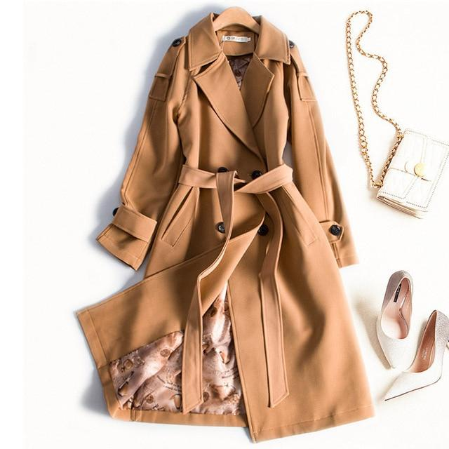 St. Tropez Trench Coat For Women-Coat-LeStyleParfait.Com