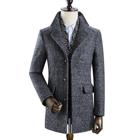 Stallone Wool Winter Coat For Men-Coat-LeStyleParfait.Com