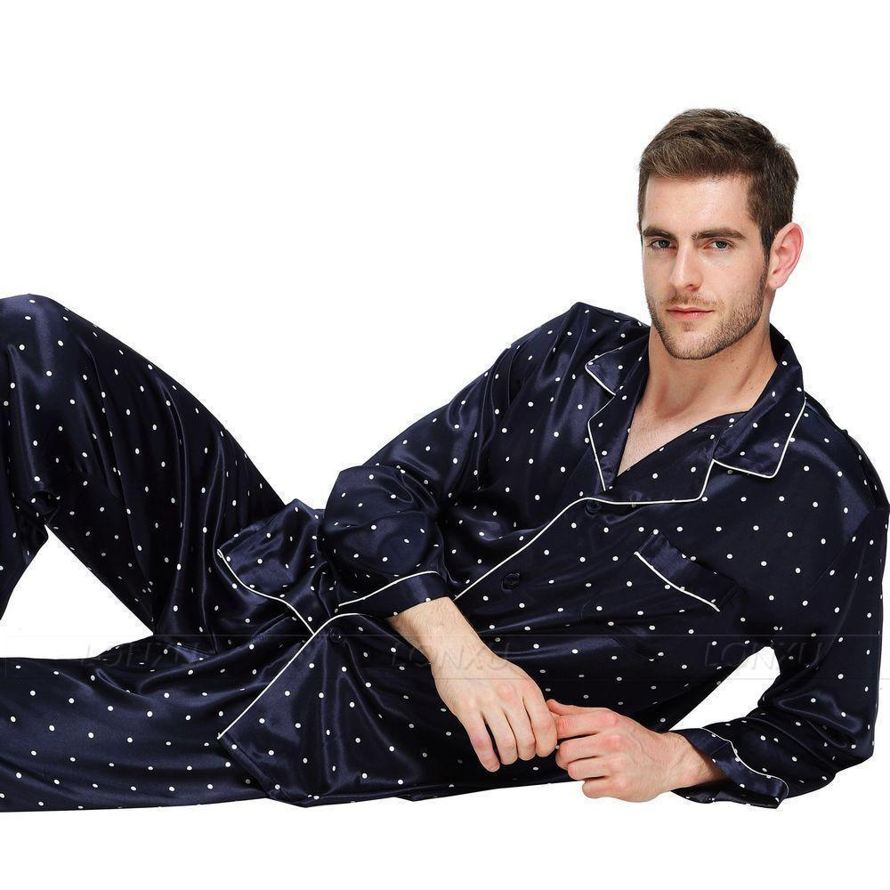Staying Late Men's Pajamas Set-Men's Sleepwear-LeStyleParfait.Com