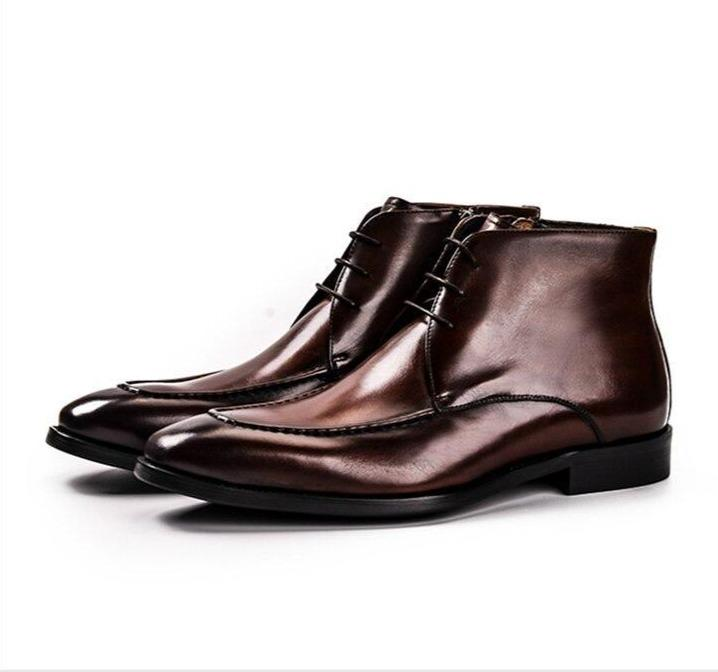 Stitched Leather Chelsea Boots For Men-Shoes-LeStyleParfait.Com
