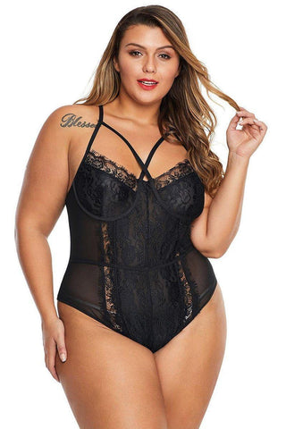 Sweet Touch Lace Teddy-Bodysuit-LeStyleParfait.Com