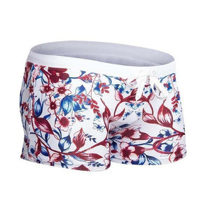 Swimwear - Men's Swimshorts, Floral Trunks-Swimwear-LeStyleParfait.Com