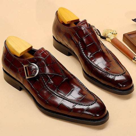 Teodoro Monk Strap Shoes For Men - Oxfords-Shoes-Online-LeStyleParfait.Com