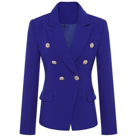 "The ""Inspiration"" Double Breast Women's Blazer Blazer LeStyleParfait.Com Blue S"