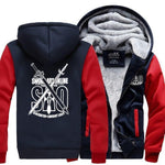 The Sword- Men's Winter Hoodie-Hoodies-Sweatshirts-Online-gray dark blue 1-XL-LeStyleParfait.Com