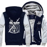 The Sword- Men's Winter Hoodie-Hoodies-Sweatshirts-Online-gray dark blue-XL-LeStyleParfait.Com