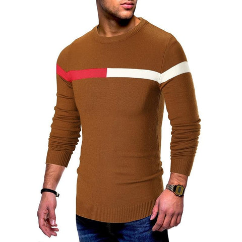 """Toned Up"" Slim Fit Pullover Sweaters For Men- Autumn, Clothing, Crew Neck, Fall, Fit, Men, Men's, Pullover, Slim, Sweaters, Winter-LeStyleParfait.Com"