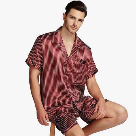 Tucked In Nice Mens Pyjamas Set-Men's Sleepwear-LeStyleParfait.Com