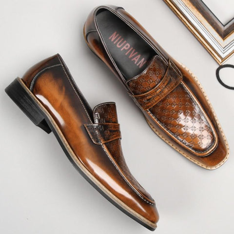 Uberto Penny Loafers Shoes For Men-Online-LeStyleParfait.Com