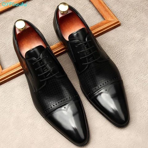 Ugo Leather Oxford Dress Shoes For Men-Shoes-Online-LeStyleParfait.Com