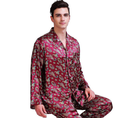 Up Past Bedtime Men's Pajama Set-Men's Sleepwear-LeStyleParfait.Com