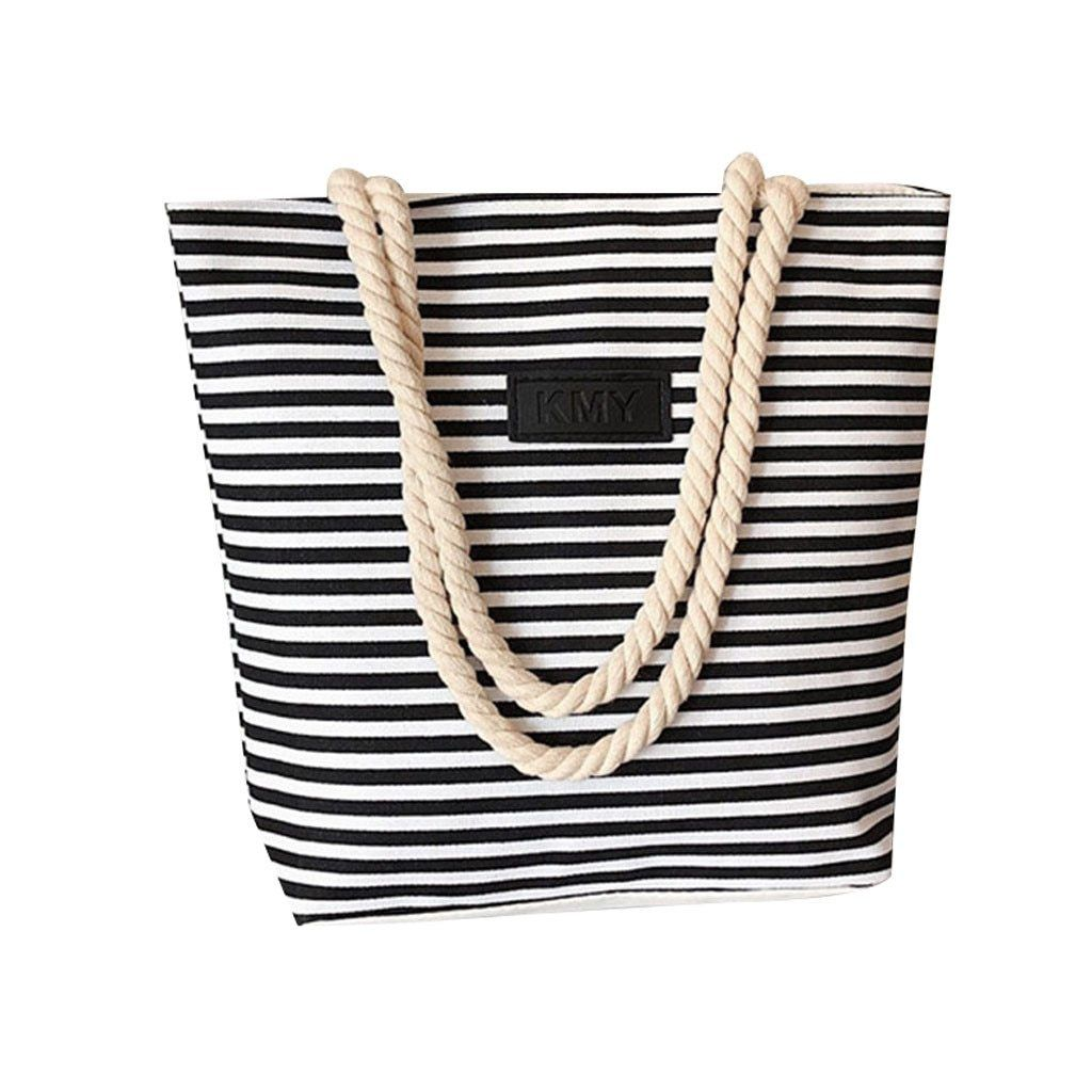 Vacation Mode Striped Beach Bag-Bag-LeStyleParfait.Com