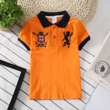 Victory Kids Polo Shirts T-Shirts LeStyleParfait.Com Orange 24M
