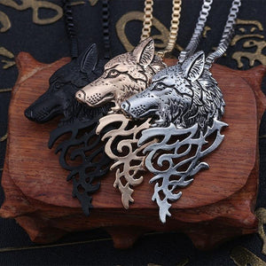 Vintage Wolf Pendant and Necklace For Women Men, Animal Jewelry-Necklace-LeStyleParfait.Com