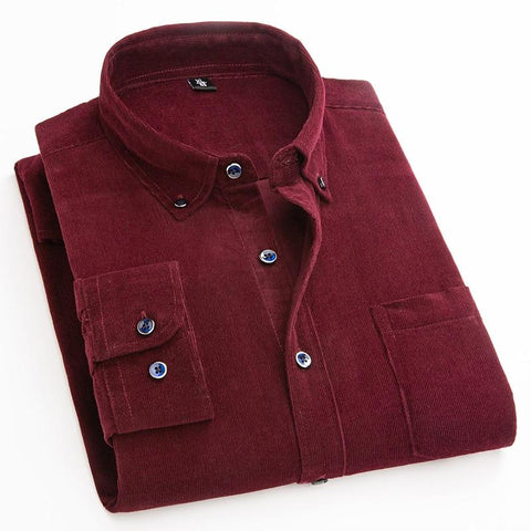 Wales Corduroy Shirt For Men-Shirt-LeStyleParfait.Com