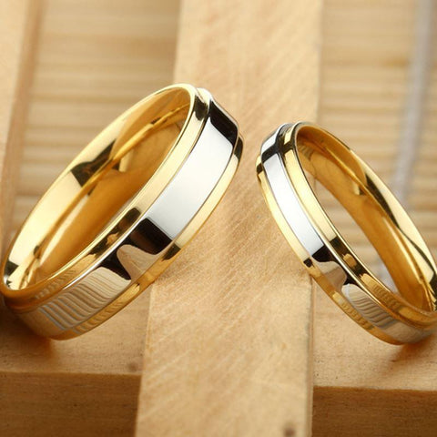 Wedding Ring Silver Gold Wedding Jewelry-Rings-LeStyleParfait.Com