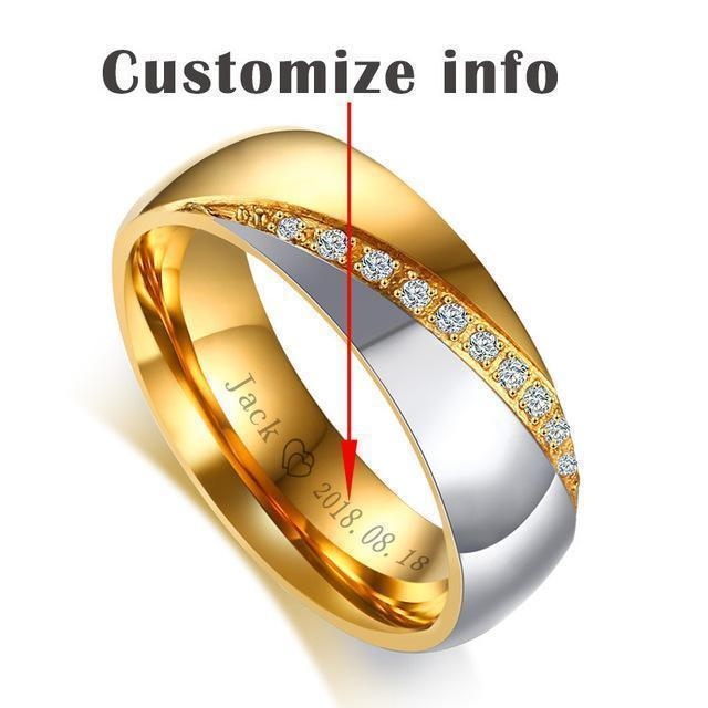 Wedding Rings Engamement Personalized Rings-Rings-LeStyleParfait.Com