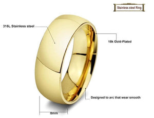 Wedding Rings Vintage Gold Plated Wedding Jewelry-Rings-LeStyleParfait.Com
