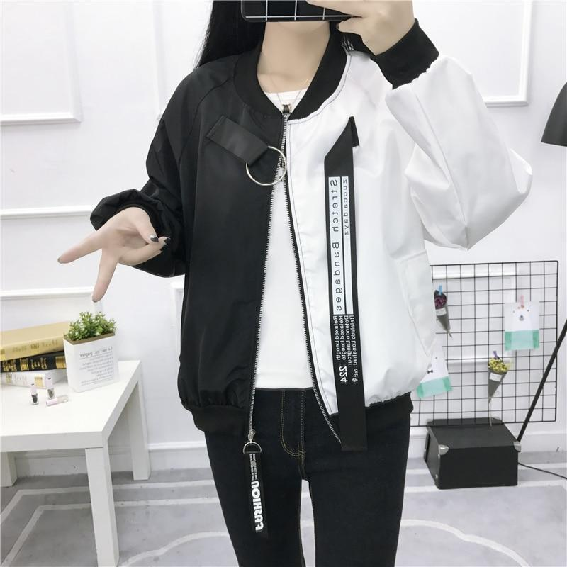 Women Jacket, Casual Patchwork Windbreaker-Women-Jacket-LeStyleParfait.Com