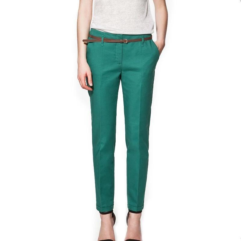 Women Pants, Casual Elegant Pencil Pants-Women Pants-LeStyleParfait.Com