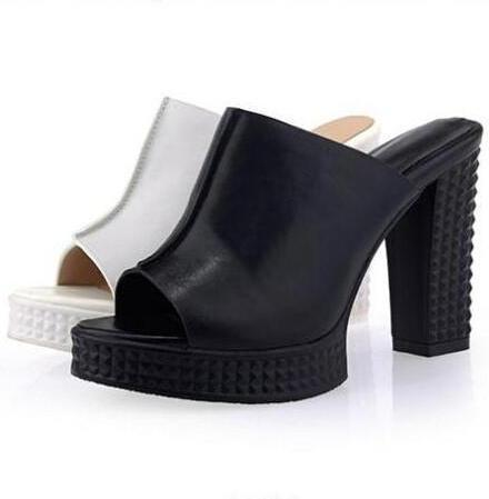 Women Sandals, Slip On Sandals, High Heel Shoes-Shoes-LeStyleParfait.Com