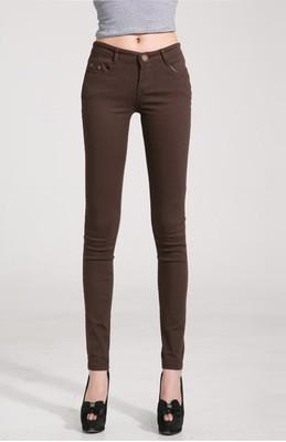 Women Skinny Jeans, Pencil Pants Size 25-31, Brown Women Pants Le Style Parfait Brown 26