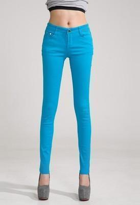 Women Skinny Jeans, Pencil Pants Size 25-31, Sky Blue-Women Pants-LeStyleParfait.Com