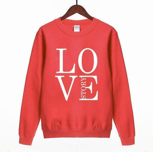 Women Sweatshirt LOVE STORY Print Sweatshirt-Women Sweatshirt-LeStyleParfait.Com